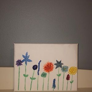 Other - Canvas flower painting